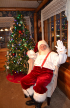 Santa Claus Visits the Frisco Lodge